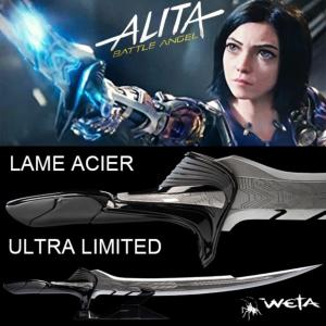 ALITA, BATTLE ANGEL - EPEE ALITA OFFICIELLE VERSION LAME ACIER ULTRA LIMITED EDITION (WETA COLLECTIBLES)