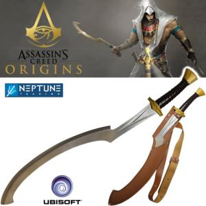 ASSASSIN'S CREED ORIGINS - KOPESH EPEE DE COMBAT OFFICIELLE + FOURREAU CUIR (UBISOFT)