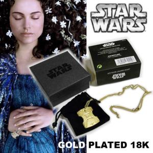 STAR WARS - COLLIER PENDENTIF PADME OFFICIEL PLAQUE OR 18K (L'ECLAT DE JAPOR - LUCASFILM LTD)
