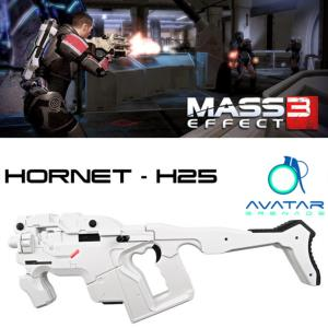 MASS EFFECT 3 - KIT HORNET H-25 PULSE RIFLE OFFICIEL ECHELLE 1/1 (AVATAR - WHITE CERBERUS)