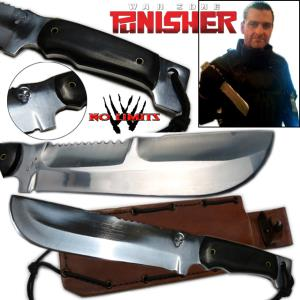 THE PUNISHER 2 (WAR ZONE) - COUTEAU REPRODUCTION AUTHENTIQUE (VERSION POLIE - FORGERON - NO LIMITS)