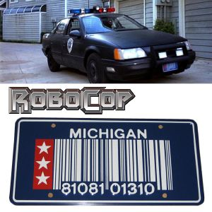 ROBOCOP - PLAQUE MINERALOGIQUE (PROP REPLICAS USA)