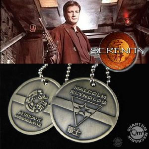 "SERENITY - PLAQUES IDENTITE ""DOG-TAG"" OFFICIELLES MALCOLM REYNOLDS"