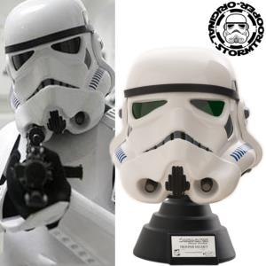 STAR WARS - STORMTROOPER CASQUE OFFICIEL + SUPPORT DELUXE (ORIGINAL-STORMTROOPER NUMEROTE)