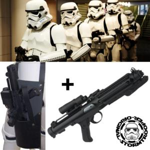 STAR WARS - STORMTROOPER BLASTER E11 + HOLSTER CUIR OFFICIEL EDITION NUMEROTEE