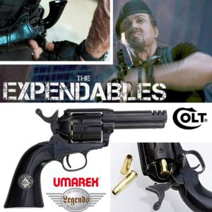 THE EXPENDABLES - REVOLVER BARNEY ROSS COLT S.A.A. .45 ACE CUSTOM OFFICIEL TOUT METAL