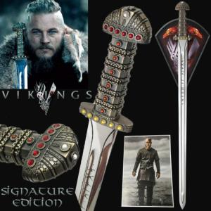VIKINGS (SERIE) - EPEE DU ROI RAGNAR LOTHBROK OFFICIELLE SIGNATURE EDITION