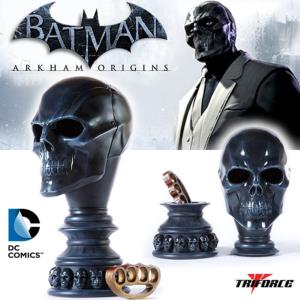 BATMAN ARKHAM ORIGINS - BLACK MASK ARSENAL OFFICIEL ECHELLE 1/1 (WARNER BROS GAMES - TRIFORCE)