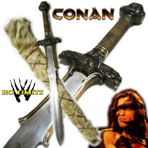 CONAN - EPEE ATLANTEAN REPRODUCTION AUTHENTIQUE LAME DAMAS (PRACTICAL ARTISAN FORGERON - NO LIMITS)