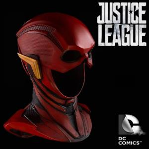 JUSTICE LEAGUE - FLASH MASQUE OFFICIEL AVEC SUPPORT (DC COMICS - DIMENSION STUDIO)
