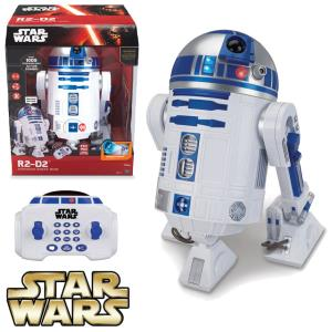 STAR WARS - R2D2 DROID OFFICIEL RADIOCOMMANDE INTERACTIF SON & LUMIERE (ECHELLE 1/2)