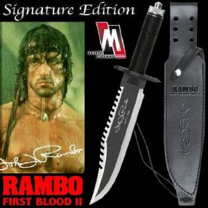 RAMBO II, LA MISSION - POIGNARD OFFICIEL SIGNATURE EDITION