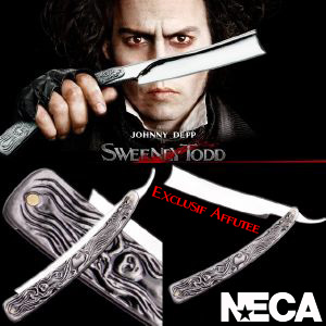 SWEENEY TODD - RAZOR OFFICIEL EXCLUSIF AFFUTE (NECA USA)