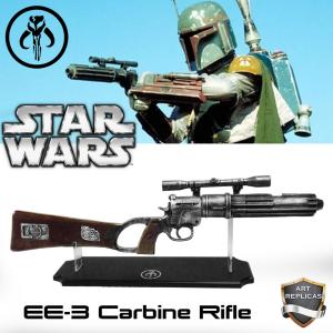 STAR WARS - BOBA FETT REPLIQUE FUSIL BLASTER EE-3 CARBINE RIFLE (REPRODUCTION ART REPLICAS)