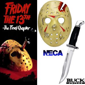FRIDAY THE 13TH : THE FINAL CHAPTER (VENDREDI 13) - PACK : POIGNARD & MASQUE JASON OFFICIELS