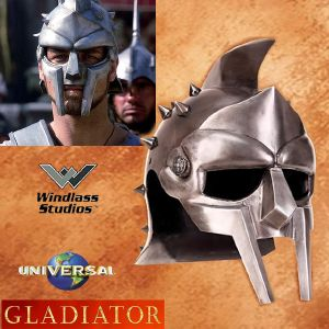 GLADIATOR - CASQUE MAXIMUS OFFICIEL AVEC SUPPORT DELUXE (UNIVERSAL - WINDLASS STUDIOS)