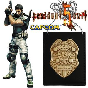 RESIDENT EVIL - S.T.A.R.S. BADGE OFFICIEL AVEC CHAINE EXCLUSIVE SDCC EDITION