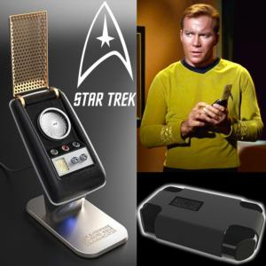 STAR TREK - COMMUNICATOR TOS OFFICIEL AVEC PRESENTOIR ET MALLETTE DE TRANSPORT