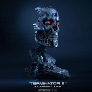 TERMINATOR 2 - BUSTE T-800 OFFICIEL HEAD REPLICA ECHELLE 1:1 LIMITED EDITION (PURE ARTS - SIDESHOW)