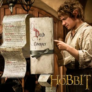 THE HOBBIT - CONTRAT DE BILBO SACQUET OFFICIEL