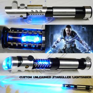 STAR WARS - SABRE LASER UNLEASHED STARKILLER AVEC CRYSTAL (LAME AMOVIBLE-PRACTICAL-FAIT MAIN)