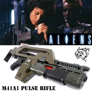 ALIENS - PULSE RIFLE M41A1 HAUT DE GAMME TOUT AUTOMATIQUE (VERSION SNOW WOLF)