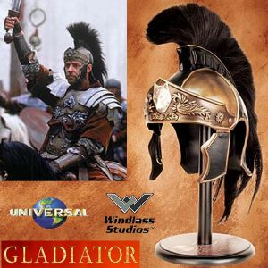 GLADIATOR - CASQUE GENERAL MAXIMUS OFFICIEL AVEC SUPPORT DELUXE (UNIVERSAL - WINDLASS STUDIOS)