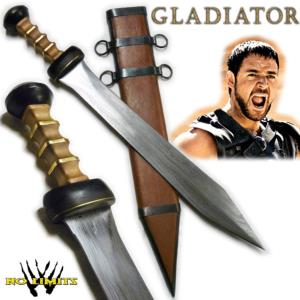 GLADIATOR -  GLAIVE MAXIMUS REPRODUCTION AUTHENTIQUE LAME DAMAS (PRACTICAL - ARTISAN FORGERON)