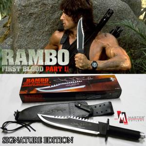 RAMBO II, LA MISSION - POIGNARD OFFICIEL SIGNATURE EDITION (MASTER CUTLERY- HOLLYWOOD COLLECTIBLES GROUP)
