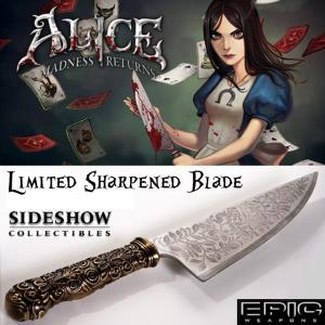 ALICE MADNESS RETURNS - COUTEAU VORPAL BLADE OFFICIEL LIMITED EXCLUSIVE SHARPENED