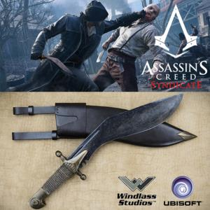 ASSASSIN'S CREED SYNDICATE - KUKRI DE JACOB FRYE OFFICIEL + FOURREAU (UBISOFT - WINDLASS STUDIOS)