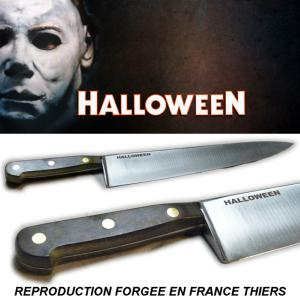 "HALLOWEEN (1978) - REPRODUCTION COUTEAU MICHAEL MYERS ""BUTCHER KNIFE PROP"" (FORGE EN FRANCE THIERS)"