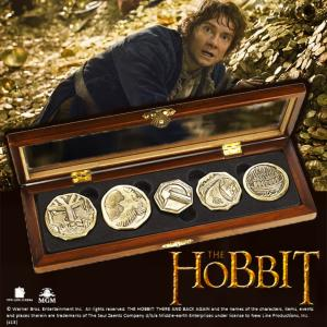 "THE HOBBIT - PIECES DE COLLECTION OFFICIELLES ""DWARVEN TREASURE"""