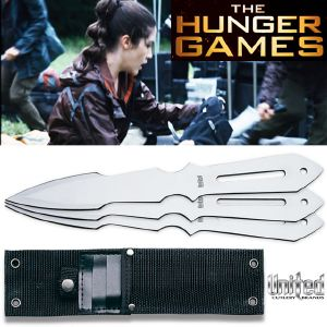HUNGER GAMES (THE) - THROWING KNIFE SET OFFICIEL DE CLOVE (JACKET MODELE)