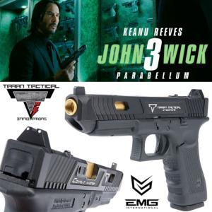 JOHN WICK 3 : PARABELLUM - PISTOLET EMG TARAN TACTICAL INNOVATIONS GLOCK G34 LICENCE OFFICIELLE LIMITED EDITION
