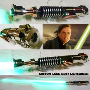 STAR WARS - SABRE LASER LUKE ROTJ CUSTOM LIGHTSABER (FAIT MAIN - LAME AMOVIBLE - PRACTICAL)
