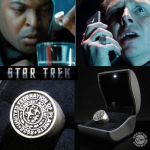 STAR TREK INTO DARKNESS - BAGUE STARFLEET  'ACADEMY CLASS RING' OFFICIELLE