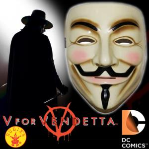 V FOR VENDETTA - MASQUE OFFICIEL SUPREME EDITION (DC COMICS-RUBIES)