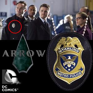 ARROW SERIES - BAGDE INSIGNE DE POLICE STARLING CITY OFFICIEL