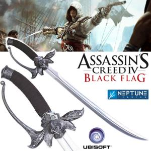 ASSASSIN'S CREED IV - SABRE EPEE DE EDWARD JAMES KENWAY OFFICIEL + FOURREAU CUIR (UBISOFT)