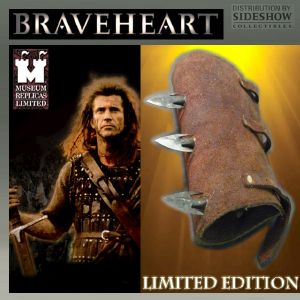 BRAVEHEART - GARDE BRAS EN CUIR VERITABLE AVEC POINTES ACIER FORGEES MAIN OFFICIEL LIMITED EDITION (SIDESHOW - WINDLASS STUDIOS - PARAMOUNT PICTURES)