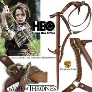 GAME OF THRONES - NEEDLE, FOURREAU ET CEINTURE DE ARYA STARK OFFICIELS LIMITED EDITION