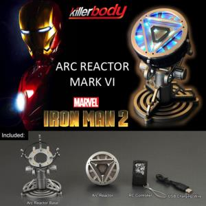 IRON MAN 2 - ARC REACTOR OFFICIEL AVEC ECLAIRAGE LED + TELECOMMANDE + SUPPORT (MARVEL - KILLERBODY)