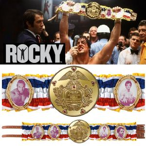 "ROCKY BALBOA - CEINTURE OFFICIELLE ""ROCKY WORLD CHAMPIONSHIP"" LIMITED EDITION PLAQUE OR 24K"