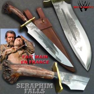 SERAPHIM FALLS - POIGNARD CUSTOM VERSION BRUT DE FORGE POLI (PRACTICAL ARTISAN FORGERON - NO LIMITS)