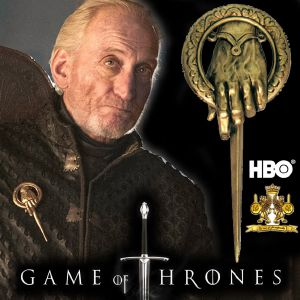 GAME OF THRONES - MAIN DU ROI BADGE OFFICIEL (VERSION DELUXE - NOBLE COLLECTION)