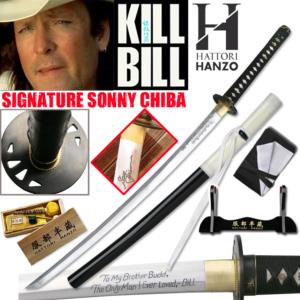 KILL BILL - BUDD KATANA SIGNATURE EDITION SONNY CHIBA : PACK OFFICIEL HATTORI HANZO SABRE FORGE MAIN