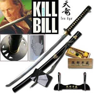 KILL BILL - BILL SWORD : PACK OFFICIEL HATTORI HANZO SABRE FORGE MAIN (PRACTICAL)