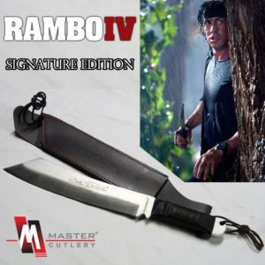 RAMBO IV - MACHETTE OFFICIELLE SIGNATURE EDITION (MASTER CUTLERY - HOLLYWOOD COLLECTIBLES GROUP)