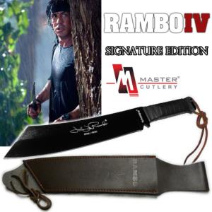 RAMBO IV - MACHETTE OFFICIELLE SIGNATURE EDITION (VERSION NOIR - MASTER CUTLERY - HOLLYWOOD COLL.)